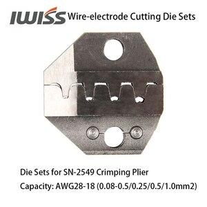 Image 4 - IWISS Filo elettrodo di Taglio Die Set per SN 2549/SN 48B/SN 28B Ratchet di Piegatura della Pinza del Piegatore Mano Strumenti