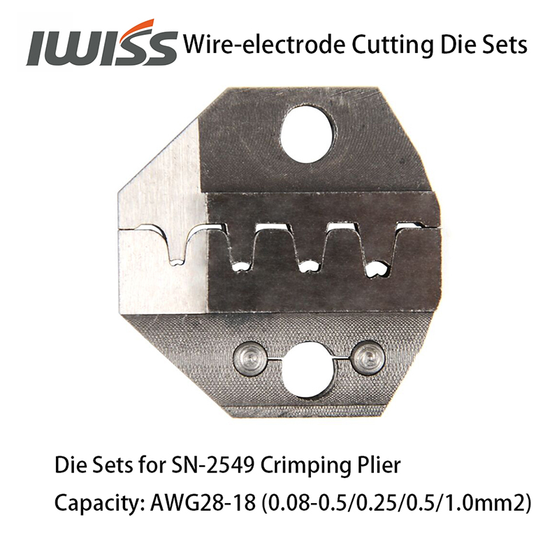 Image 4 - IWISS Wire electrode Cutting Die Sets for SN 2549/SN 48B/SN 28B Ratchet Crimping Plier Hand Crimper Toolsdie settool crimpcrimping tool crimping -