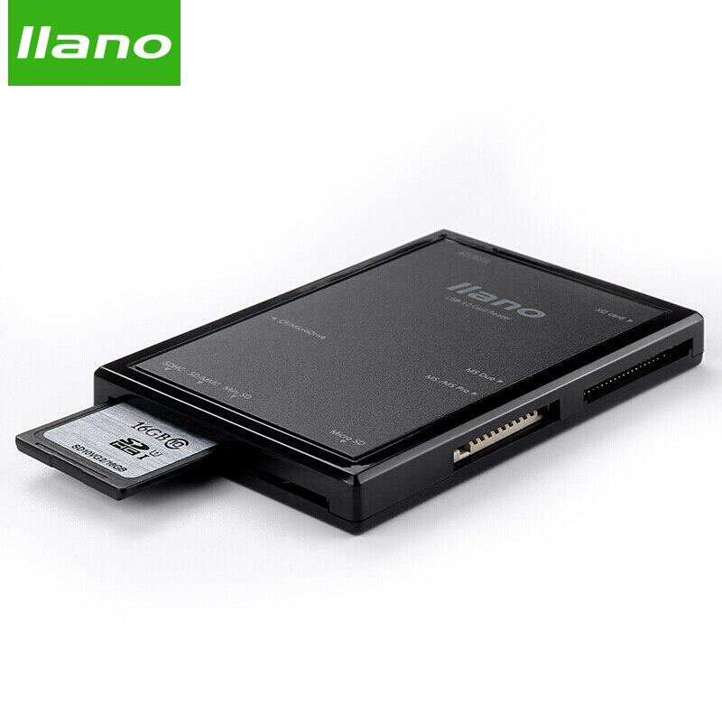llano 7 in 1 USB 3.0 Smart Card Reader Flash Multi Memory Card Reader for TF / SD / MS / CF 4 Card Read sd/Micro SD /usb card