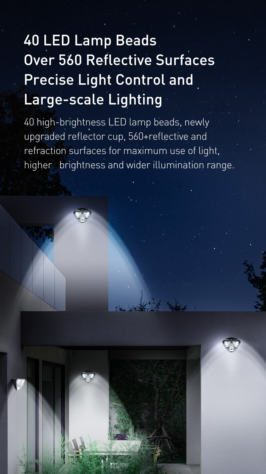 Baseus Outdoor Waterproof LED Solar Light With Motion Sensor 10 Baseus Outdoor Waterproof LED Solar Light With Motion Sensor Love Me Some Gadgets