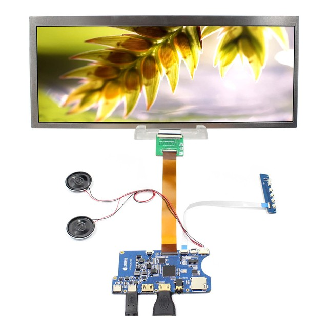 """12.3"""" HSD123KPW1 A30 1920X720 LCD Screen Contrast Ratio 1000:1 Type C HDMI TF Card LCD Controller Board"""