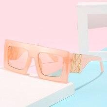 2020 Vintage Fashion Square Sunglasses Women Famous Luxury Brand