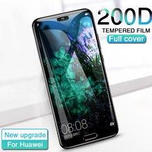 Protector de pantalla de vidrio templado 200D para Huawei P20 Lite Pro, Honor 10, 9 Lite, Mate 8, 9, 10 Lite Pro