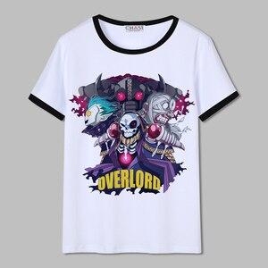 Unisex Anime Overlord Sobre Senhor Ainz Ooal Vestido albedo shalltear Algodão Casual T-Shirt Tee Camiseta