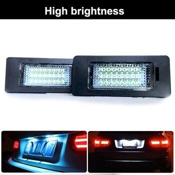 Luces de matrícula de coche LED lámpara de soporte de placa de número para BMW E81 E82 E90 E91 E92 E93 E60 E61 E39 x1 E84 X5 E70 X6 E7 luz auto