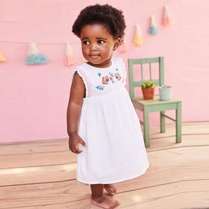 Image 2 - リトルmavenドレスベビーキッズガールズドレス花 2020 夏の幼児の女の子のファンシーエレガントなドレス夏のノースリーブの服