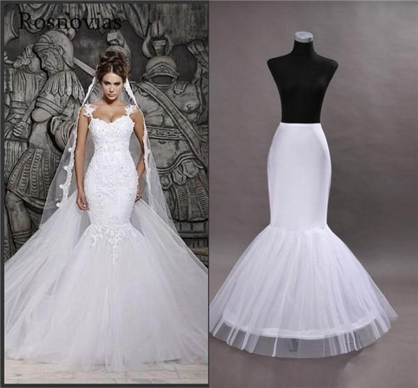 Cheap In Stock One Hoop Flounced Mermaid Petticoats Bridal Crinoline For Mermaid Wedding Prom Dresses Wedding Accessories
