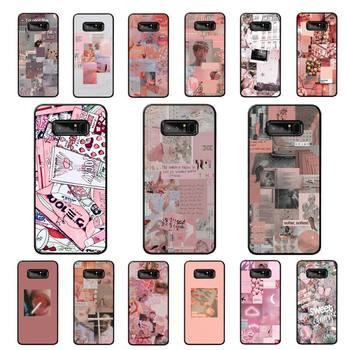 LVTLV Pink Aesthetics Phone Case for Samsung note 3 4 5 7 8 9 10 pro plus lite 20 ultra image