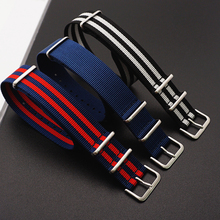 Hight Quality Nato Style Nylon 20mm 22mm Watchband James Bond 007 Military Casual Watch Strap Army Sport Band
