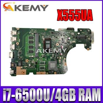 Akemy X555UA motherboard I7-6500U 4GB RAM For Asus X555U X555UA X555UB laptop motherboard X555UA mainboard X555UA motherboard k541u for asus x541uv x541uvk a541u x541uj f541u x541u r541u laptop motherboard mainboard 100