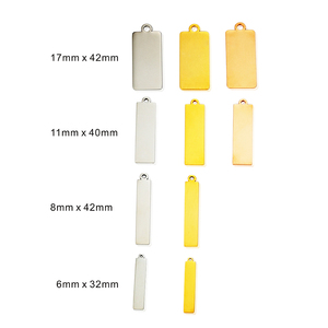 Image 2 - MYLONGINGCHARM  Free Engraving 30pcs/lot Custom your design Engravable Square Charm Rectangle Charms Key chain Tags Blanks