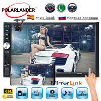 Radio cassette player Touch screen 7 inch car radio 2 din stereo auto tapes car with rear view camera Mirror Link Autoradio
