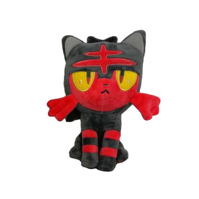 18cm Popplio Litten Rowlet Bird Game Anime Figure Toy Plush Stuffed Collectible Toy  Gift
