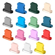 1pc colorido metal anti poeira carregador doca plug tampa rolha capa para iphone 12mini 12pro x xr max 8 7 6 acessórios do telefone celular