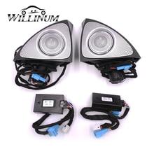 자동차 회전 트위터 메르세데스 벤츠 W213 E 클래스 64 색상에 대 한 LED 빛 자동 왼쪽 오른쪽 도어 사이드 고음 스피커 주변 조명