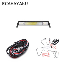 ECAHAYAKU Tri-row 20 324W Curved LED Light Bar Combo Beam Work 12V 24V with 2M Cable for 4x4 Off-Road ATV Trucks UTE