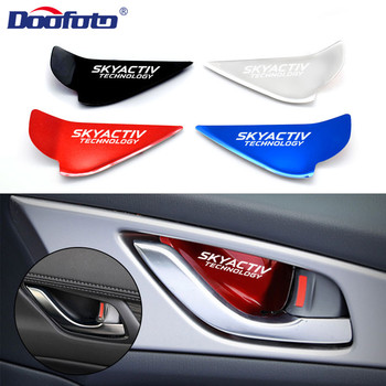 Car Door Bowl Handle Cover Trim Interior Stickers Case For Mazda Skyactiv Technology Logo 3 6 CX 5 CX3 Car Styling Accessories image
