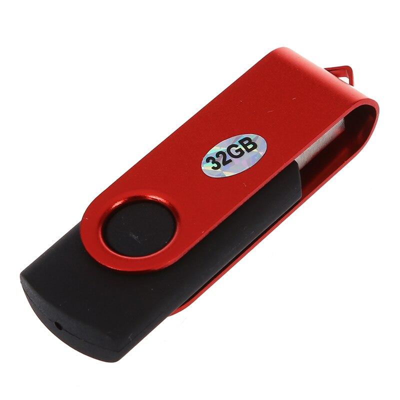 USB 32G GB 2,0 флэш-память U диск складной 7/8 P Win PC (красный + черный)