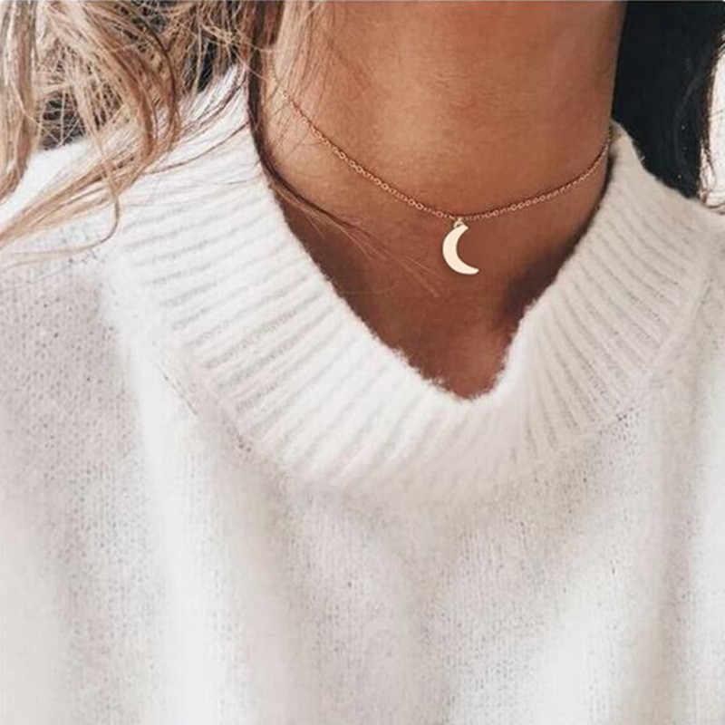 Bohemian Moon Star จี้สร้อยคอผู้หญิง VINTAGE CHAIN สร้อยคอ Choker Gothic Eye Heart เรขาคณิต Collares Colar