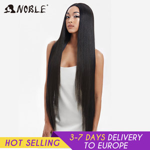 Noble Cosplay Wigs For Black Women Straight Synthetic Lace Front Hair 38 Inch Ombre Lace Front Wig Cosplay Blonde Lace Front Wig(China)
