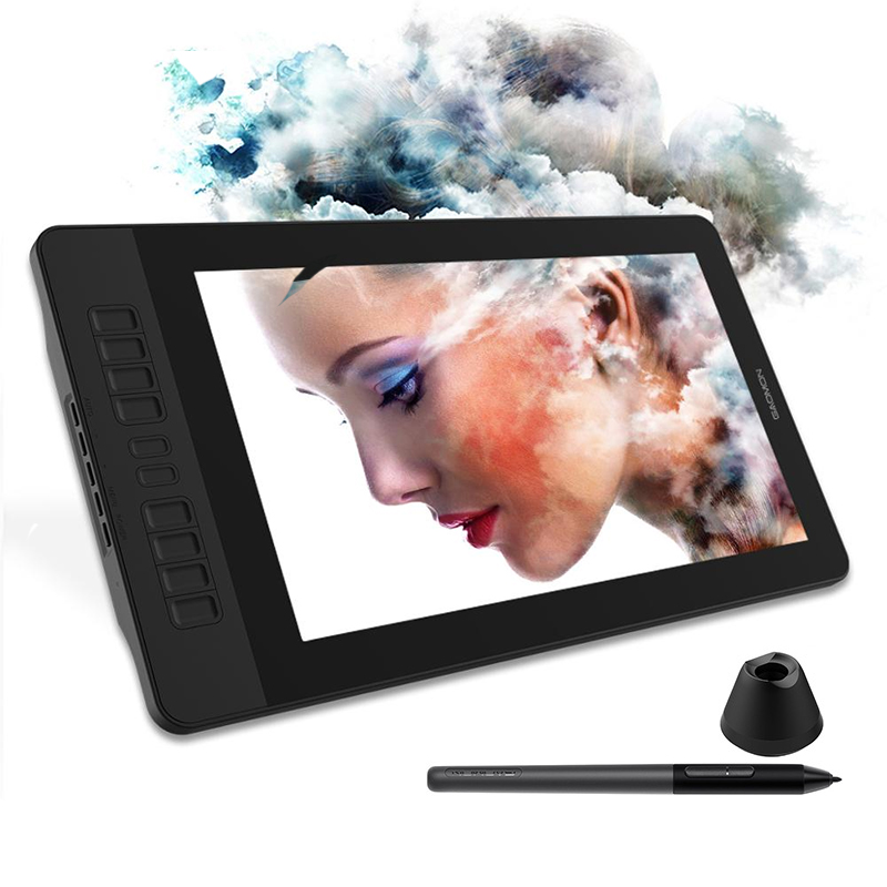 GAOMON PD1561 15.6 Inches IPS HD Graphics Drawing Tablet Monitor For Painting&Writing With 8192 Levels Battery-free Pen