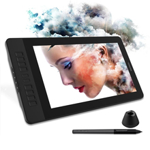 Moniteur de tablette graphique 15.6 pouces IPS HD pour peinture et écriture avec stylo sans batterie de 8192 niveaux