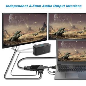 CableDeconn VGA Männlichen zu VGA HDMI DVI Weibliche 3IN1 Adapter Konverter für Desktop Laptop VGA Grafikkarte mit Micro USB power