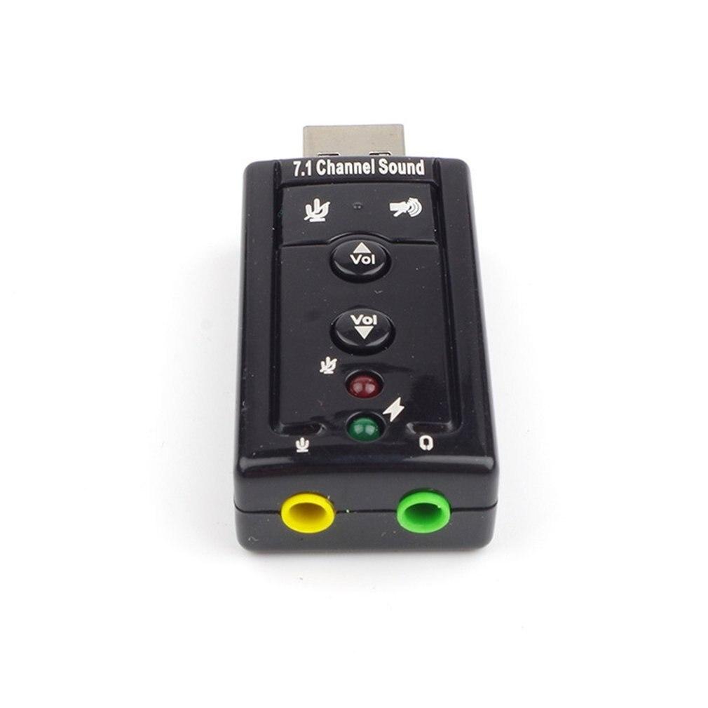 Usb geluidskaart 71 kanaals usb externe 3d объемный звук met