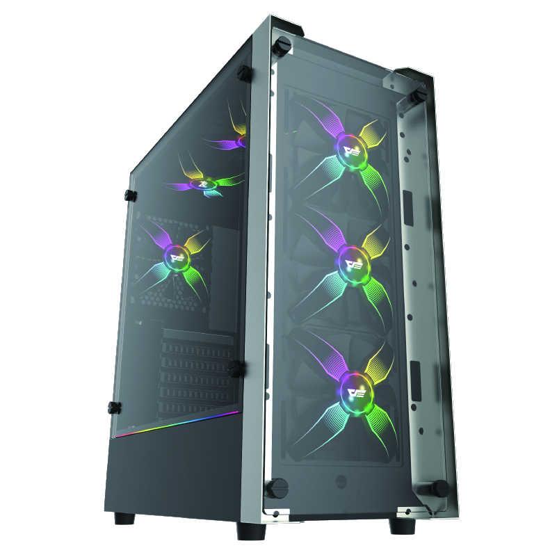 Aigo talon pro 120mm caixa do computador ventilador cpu cooler radiador de refrigeração 12 v nenhum quadro rgb cpu ventilador de refrigeração silenciosamente para inter e amd