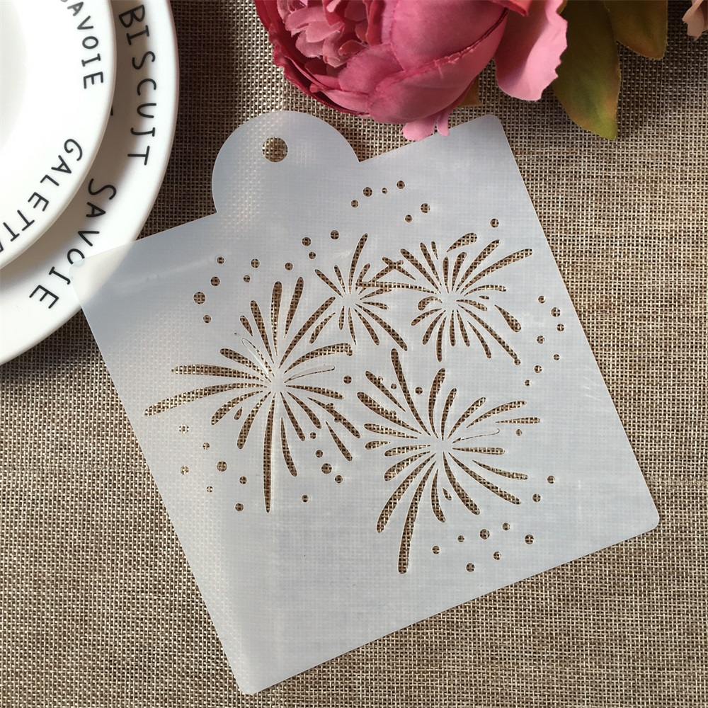 1PCs 15*17.5cm  Firework DIY Craft Layering Stencils Painting Scrapbooking Stamping Embossing Album Paper Card Template