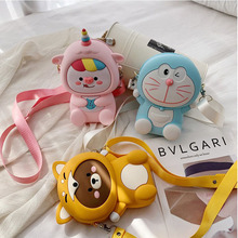Fashion Women's Bags All-match Cartoon Silicone Shoulder Crossbody Bags Large Capacity Mobi