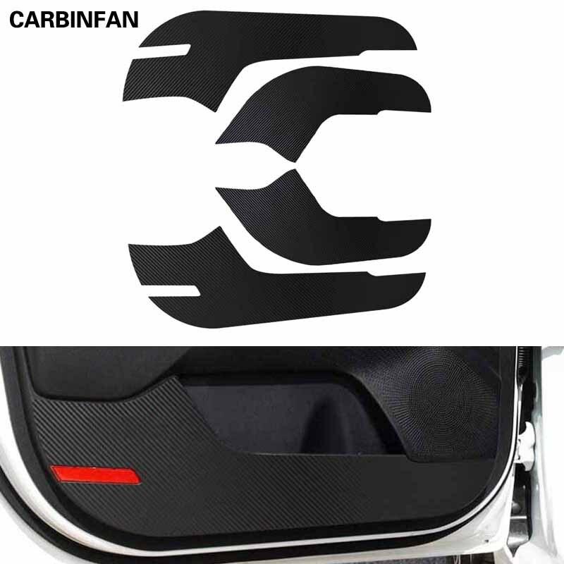 Стайлинг автомобиля, внутренняя наклейка на боковую дверь, Противоударная защитная пленка из углеродного волокна, 4 шт./компл. для Kia K3 Cerato 2019...