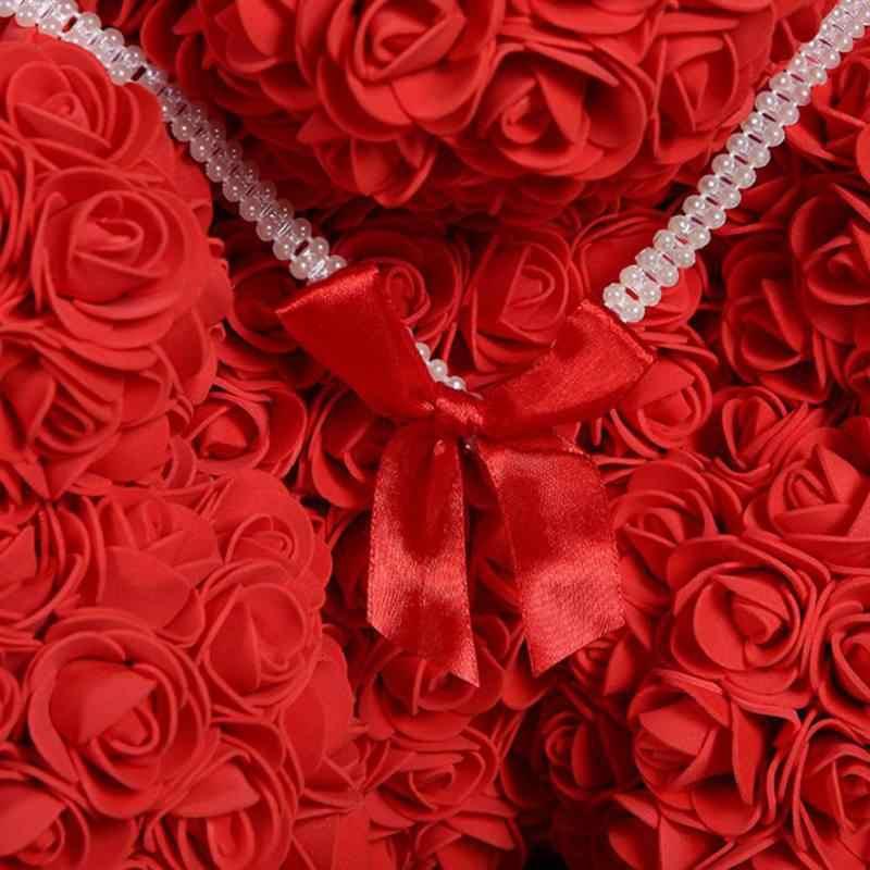 ローズ Bear Flower バレンタインローズギフト DIY 人形人工装飾女性ガールフレンドバレンタイン漫画ローズロマンチックな Gift2019