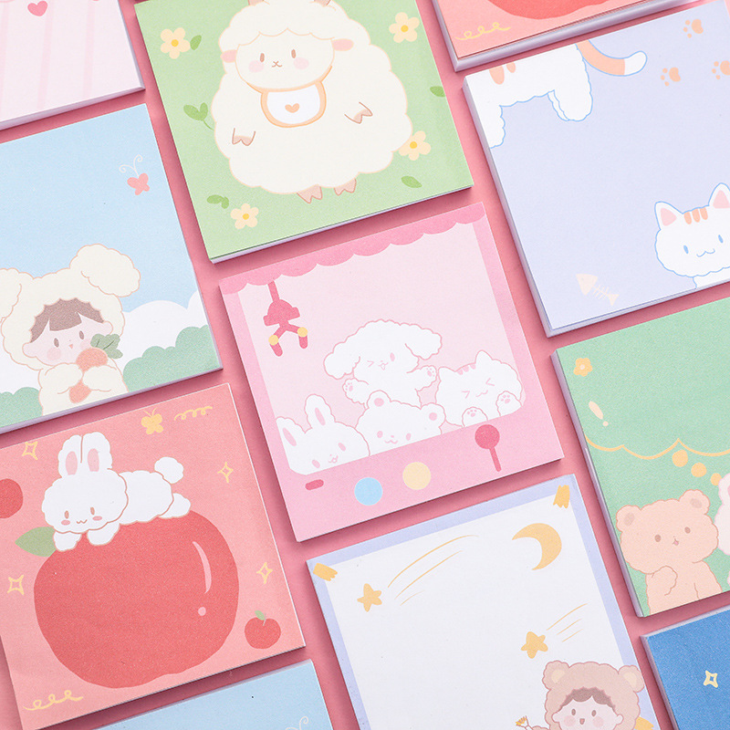 Cute Pet Party Memo Pad Message Sticky Notes Decorative Girl Cat Notepad Note Paper Memo Stationery Office Supplies
