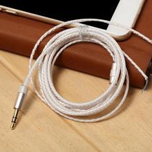 2020 1.2m prata revestido fio de cobre fone de ouvido fio de manutenção para diy substituição fone de ouvido cabo de áudio