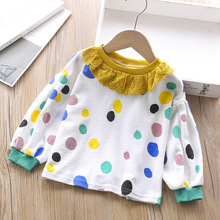 цена Baby Girls T-Shirts Long Sleeve T-shirt Cotton Casual Princess Toddler Solid Tops  kids clothing Autumn Tees toddler girl tops в интернет-магазинах