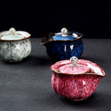 Глазурный чайник для запеченного чая temmoku одинарный jianzhan