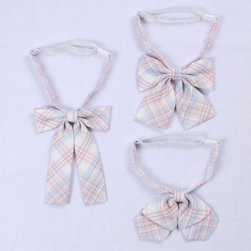Jk Bowtie Uniform Accessories Japanese High School Girl Neck Rope Butterfly Knot Cravat Lattice Preppy Chic Free Of Tying A Knot