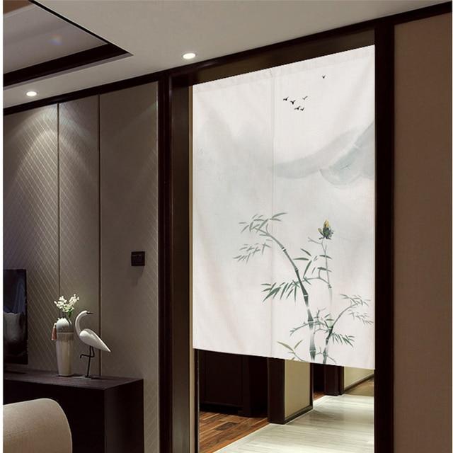 Style chinois porte rideau partition bambou fenêtre rideau japon décoration de la maison chambre salon étude chambre cuisine ménage