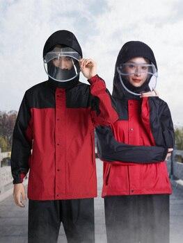 Scooter Jacket Raincoat Women Waterproof Set Motorcycle Ladies Hooded Raincoat Survival Outdoor Impermeable Poncho Pluie JJ60YY
