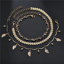Fashion Love Anklet Sexy Simple Gold Ankle Bracelet Jewelry Barefoot Sandals Beads Leg Chaine On Foot Anklets For Women Jewelry pendant anklets barefoot sandals beads indian gold silver beads sequins anklets bracelet for women jewelry foot chain anklets