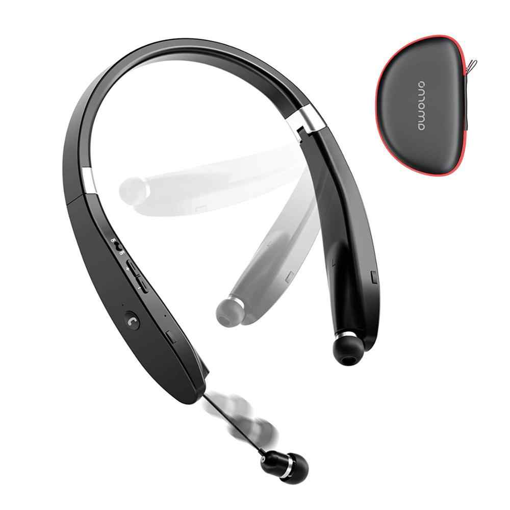 Auriculares con banda para el cuello Amorno auriculares inalámbricos con Bluetooth con micrófono manos libres TWS auriculares con cancelación de ruido auriculares