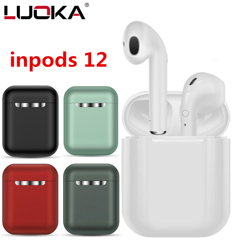 InPods 12 TWS Wireless Headset Bluetooth 5.0 Touch Sport Earphones Stereo For IPhone Xiaomi Huawei Samsung Android Smart Phone