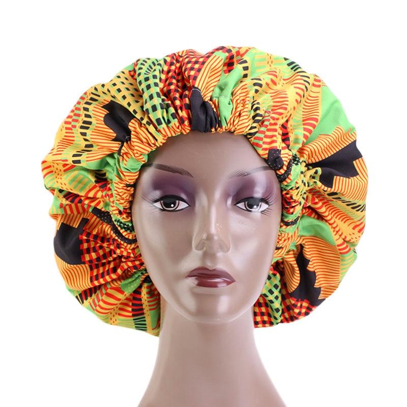 Extra Large Size African Pattern Print Ankara Bonnets Women Satin Lined Headwrap Bonnets Night Sleep Cap Winter Hat Lady Turban