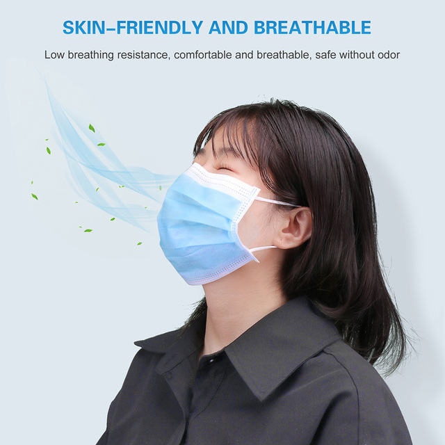 Disposable Mouth Mask Black/Pink/Blue/White Mouth Face Masks Non-Woven Disposable Mask In Stock 3