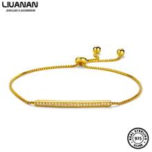 цена 925 Sterling Silver CZ Bracelet Bangle for Women Adjustable Zirconia Bar Bracelet Wedding Fashion Jewelry Wholesale Party Gift онлайн в 2017 году