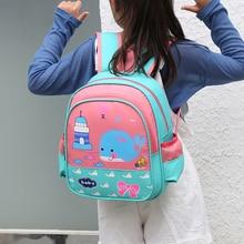 2020 New Cartoon School Bag For Gilrs Boys Bear Whale Design Backpack Children School Bags Student Mochila Infantil Grade 1-5