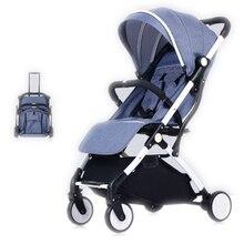 Детская коляска Kight для путешествий, система kinderwaga для новорожденных, может сидеть и лежать на самолете, золотая, B, автомобильная коляска для девочек и мальчиков