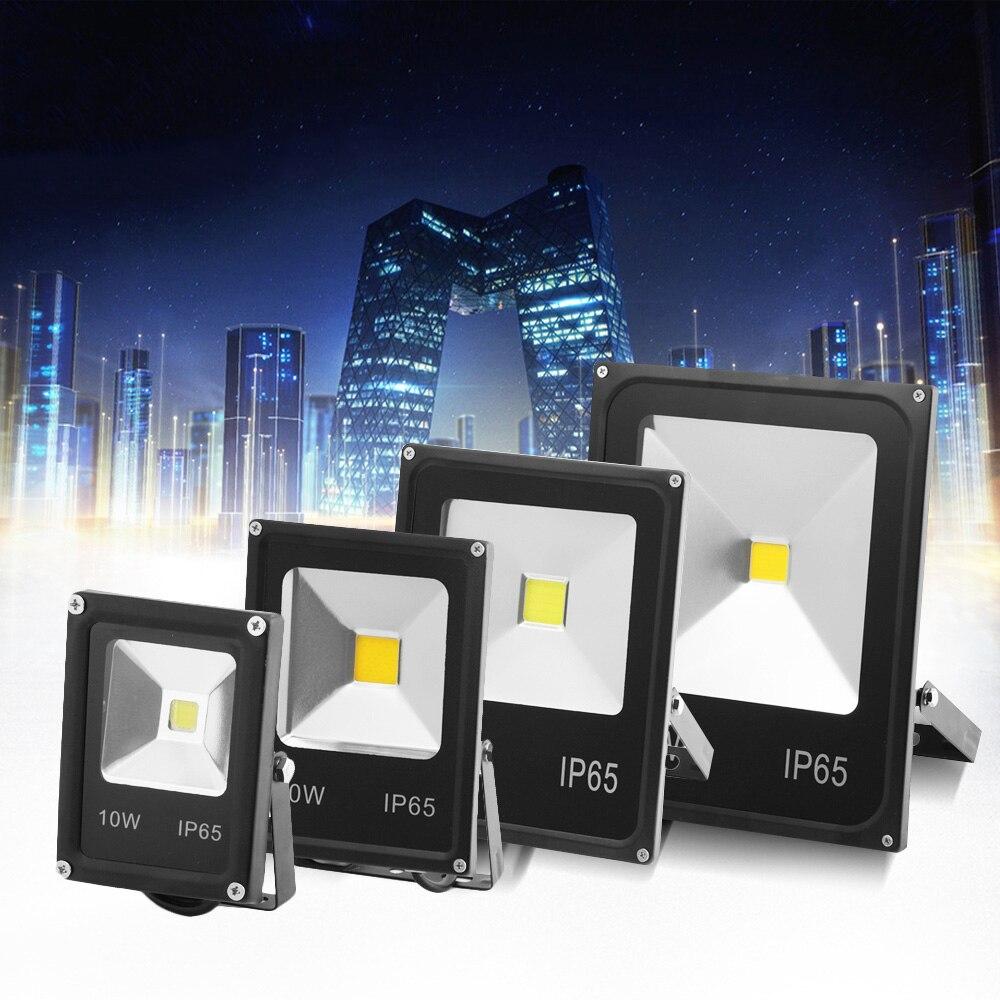 CP AC220V LED Flood Light RGB Black Shell Led Outdoor Landscape Garden Search Lamp Led Luminaire Light 10w 20w 30w 50w 100W 200V