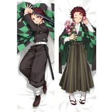 Cuerpo amorosa funda para almohada Kimetsu No Yaiba Kamado Tanjirou Dakimakura funda de cojín abrazar regalo 2020 demonio asesino Anime Cosplay